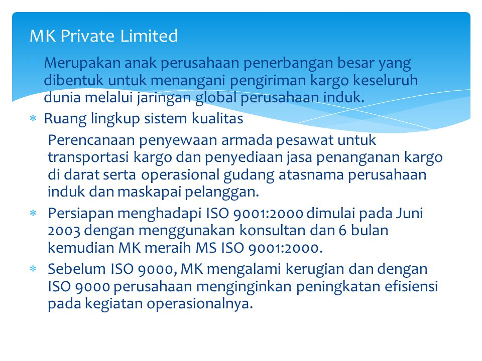 MK Private Limited