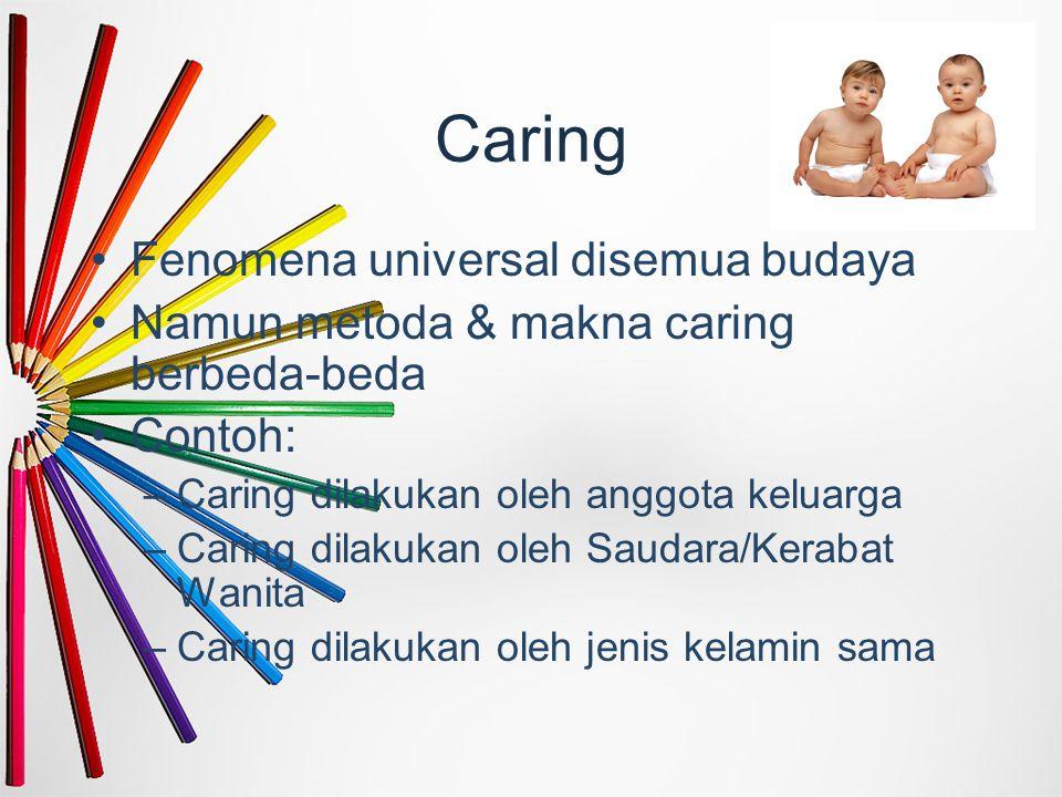 Caring Fenomena universal disemua budaya