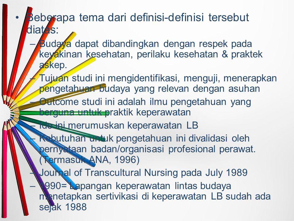 Beberapa tema dari definisi-definisi tersebut diatas:
