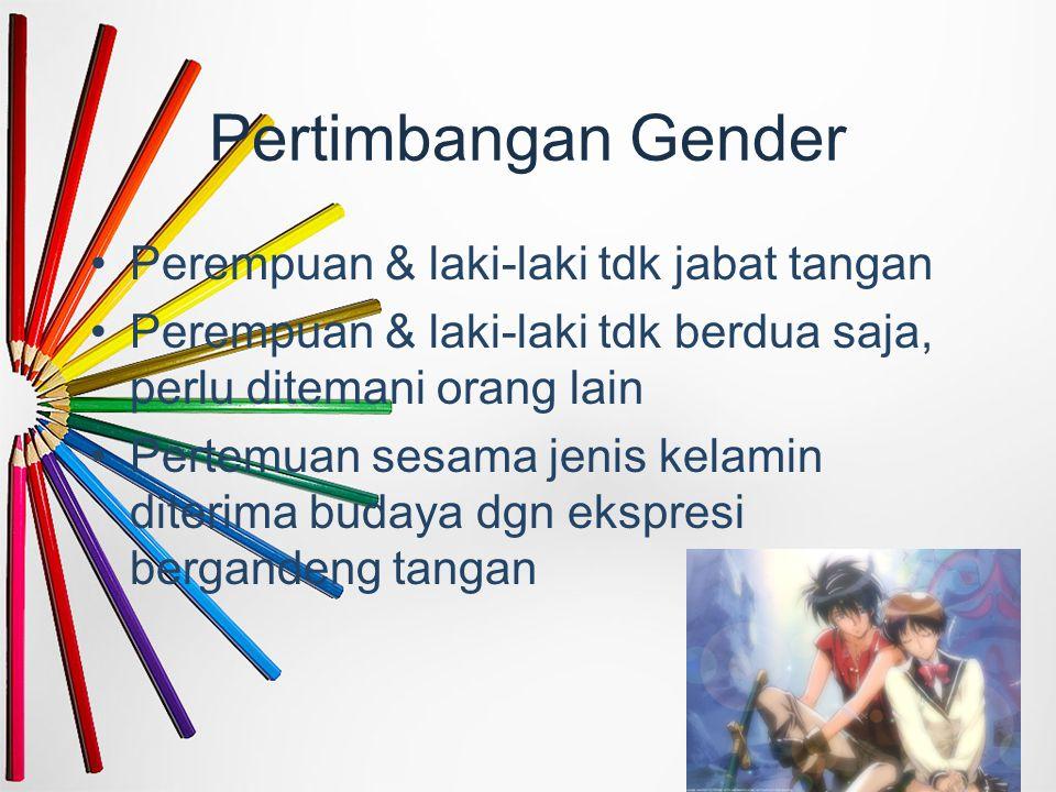 Pertimbangan Gender Perempuan & laki-laki tdk jabat tangan