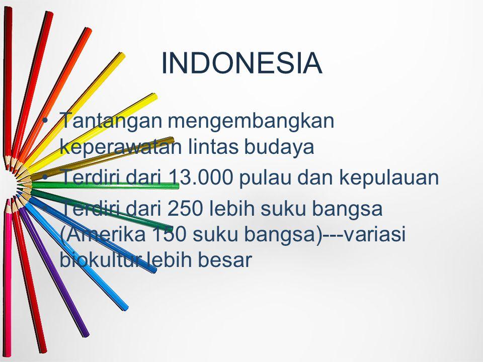 INDONESIA Tantangan mengembangkan keperawatan lintas budaya