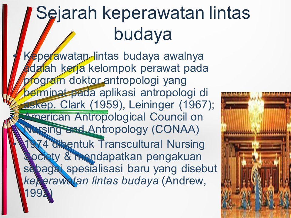 Sejarah keperawatan lintas budaya