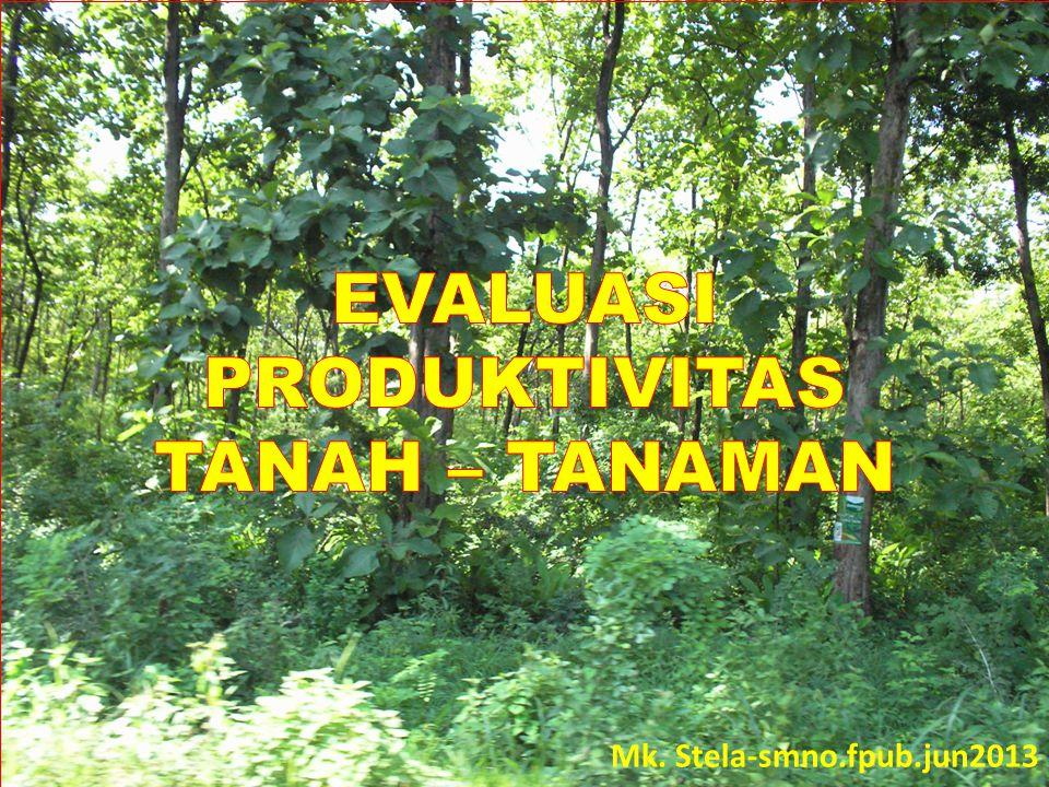 EVALUASI PRODUKTIVITAS TANAH – TANAMAN