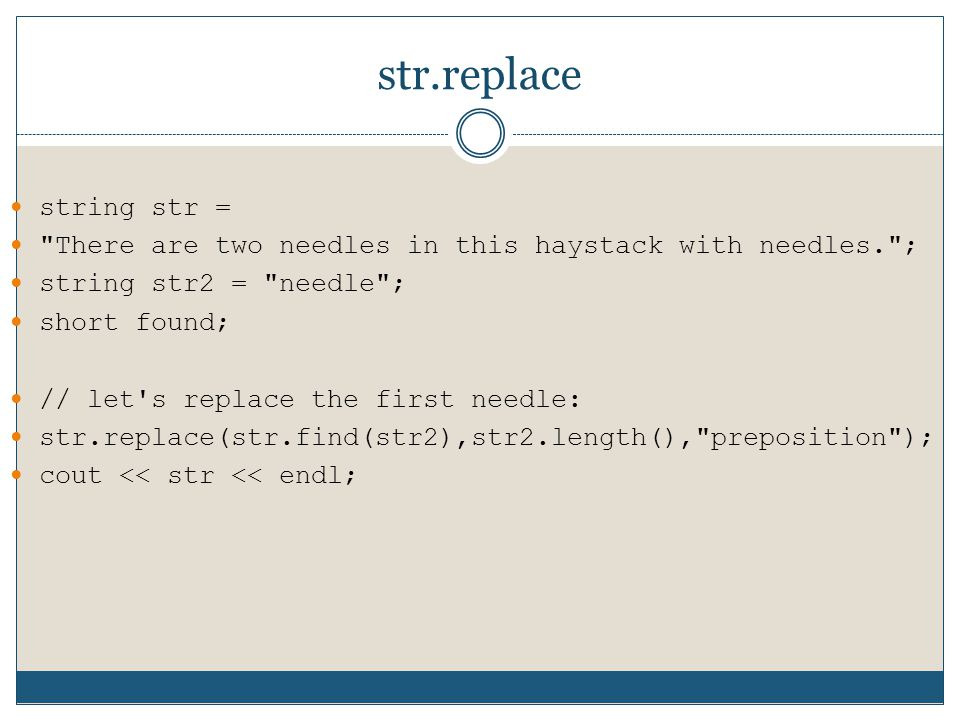 str.replace string str =