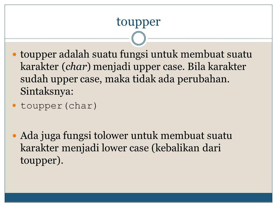 toupper