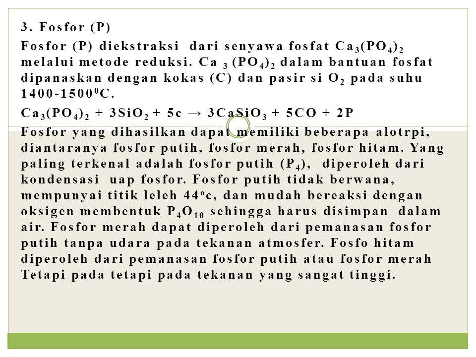 3. Fosfor (P)