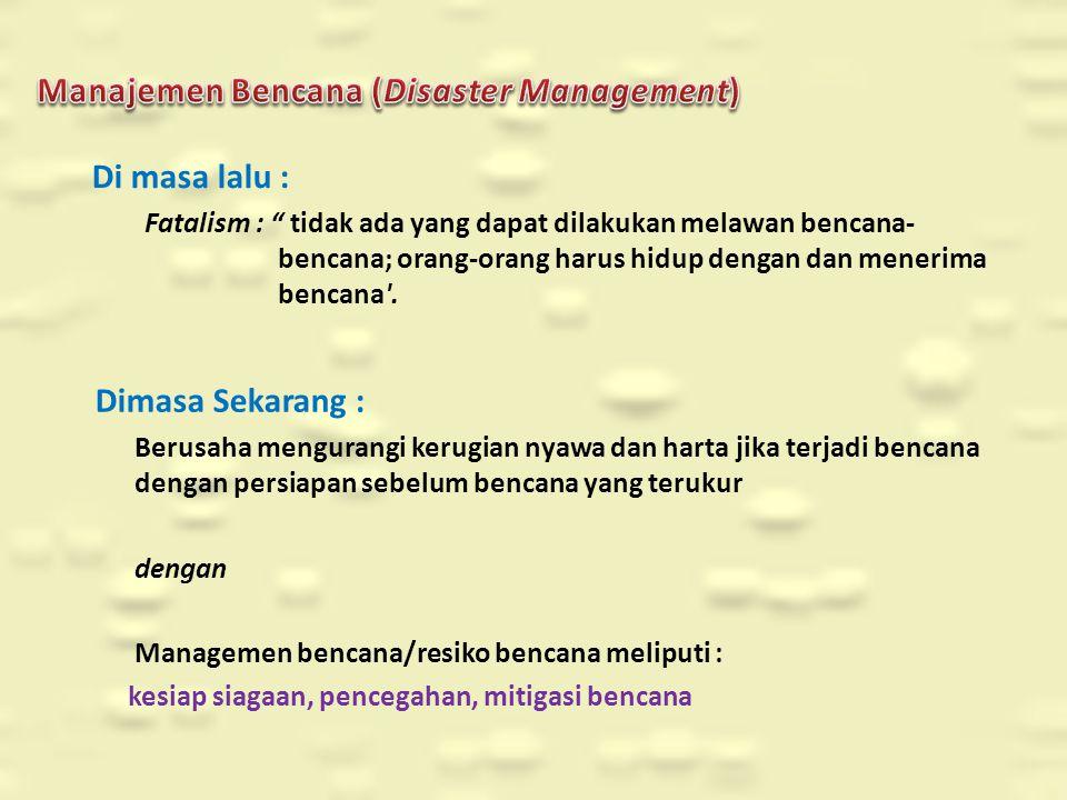 Manajemen Bencana (Disaster Management)