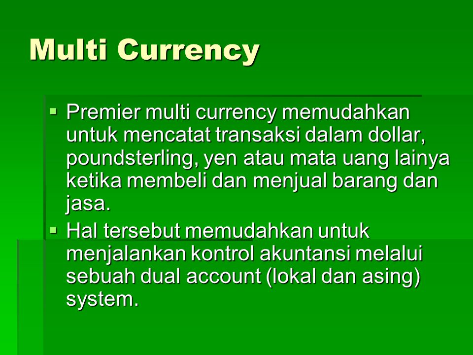 Multi Currency