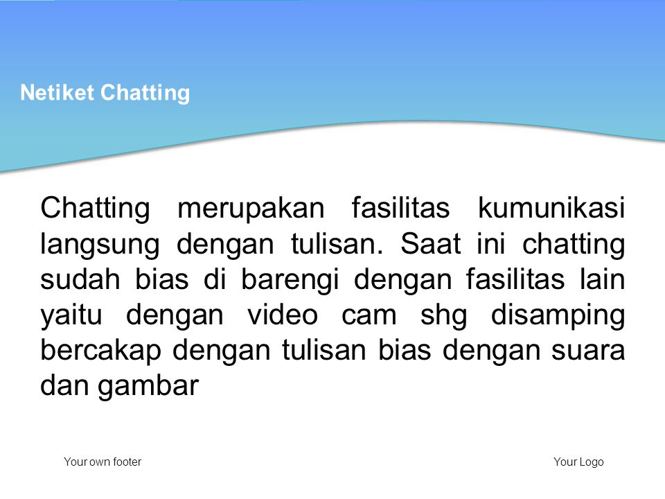 Netiket Chatting
