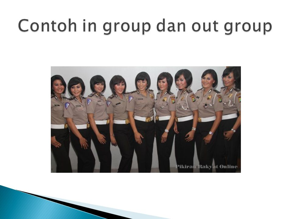 Contoh in group dan out group