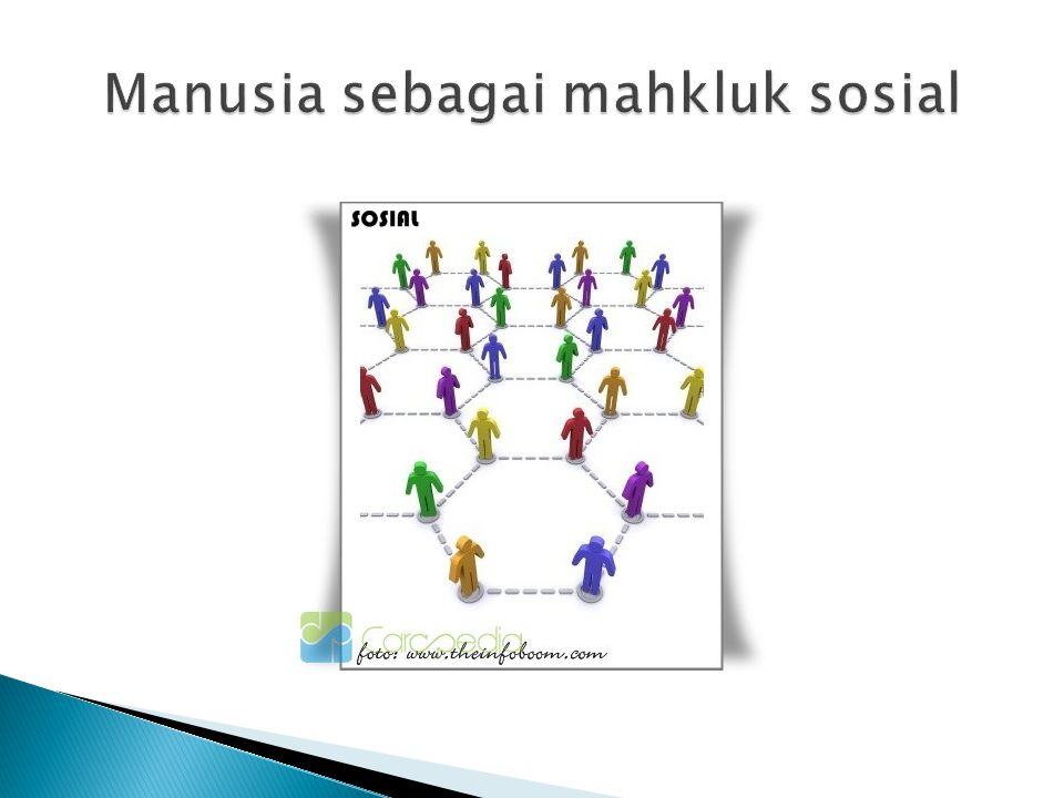 Manusia sebagai mahkluk sosial
