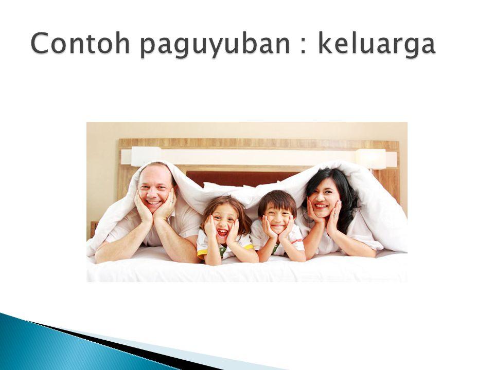 Contoh paguyuban : keluarga