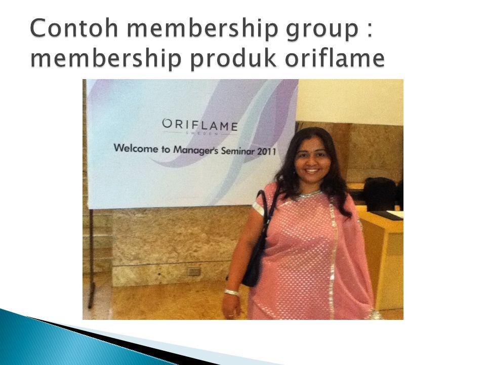 Contoh membership group : membership produk oriflame