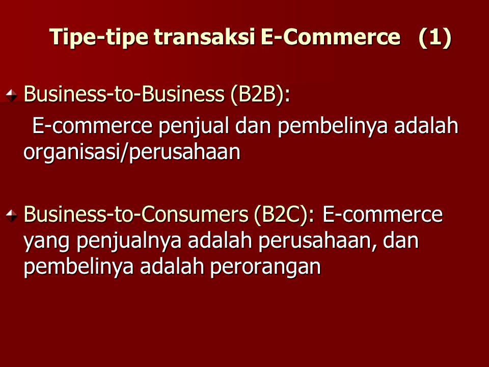 Tipe-tipe transaksi E-Commerce (1)