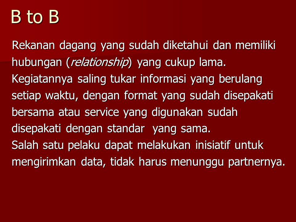 B to B Rekanan dagang yang sudah diketahui dan memiliki