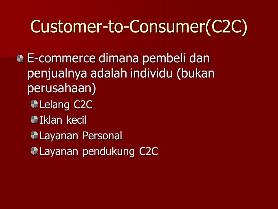 Customer-to-Consumer(C2C)