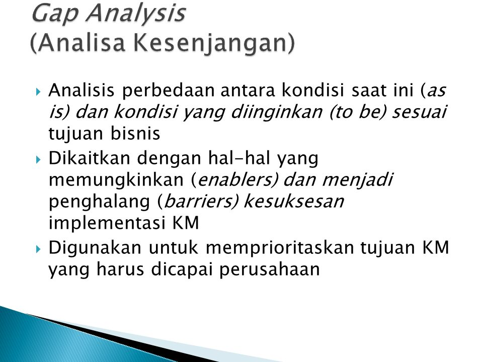 Gap Analysis (Analisa Kesenjangan)