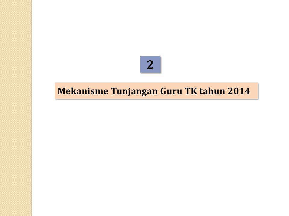 2 Mekanisme Tunjangan Guru TK tahun 2014