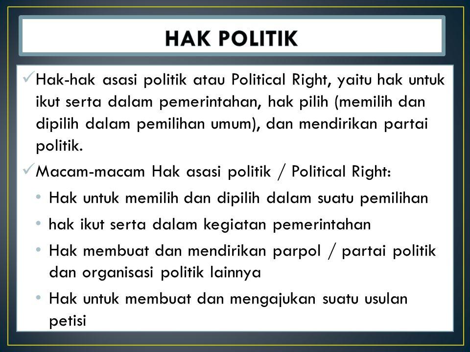HAK POLITIK