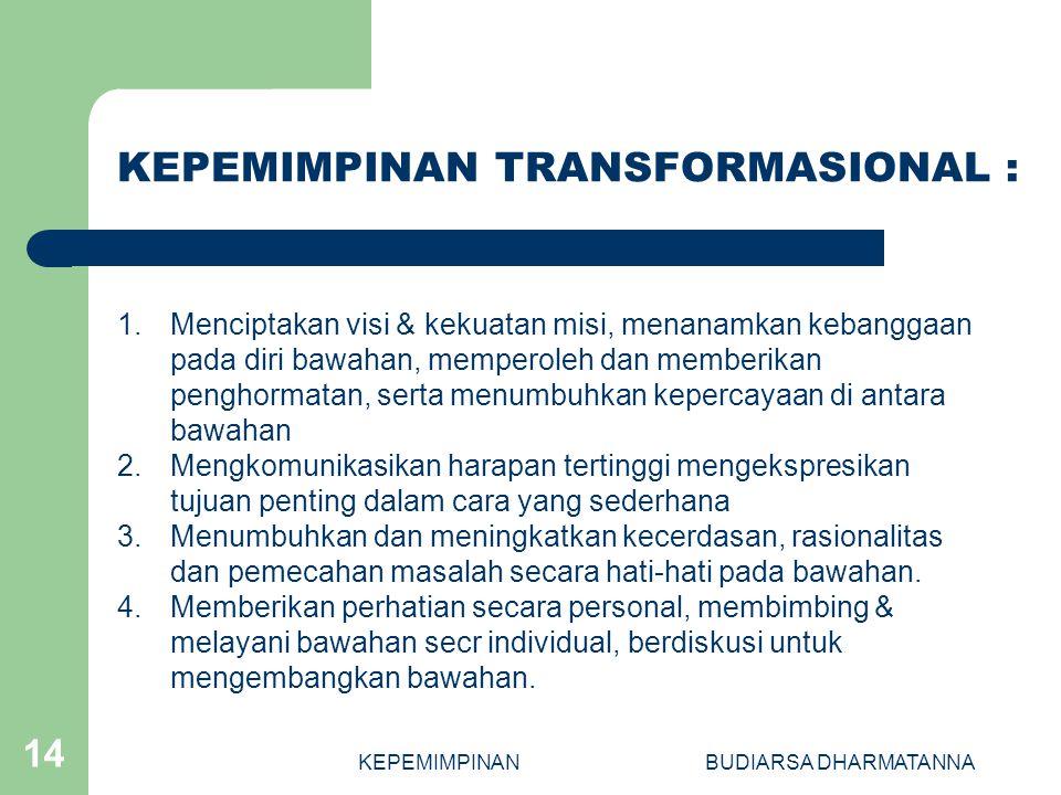 KEPEMIMPINAN TRANSFORMASIONAL :