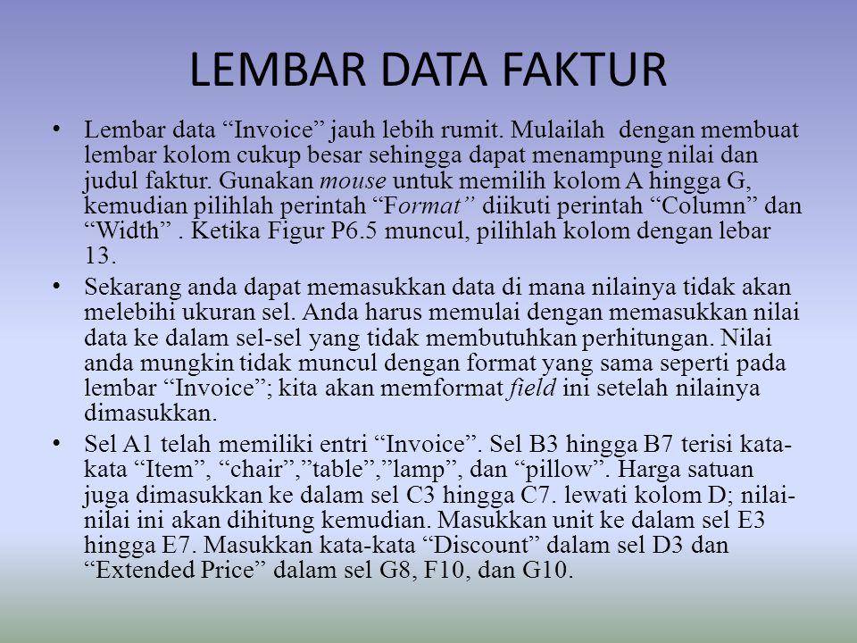 LEMBAR DATA FAKTUR