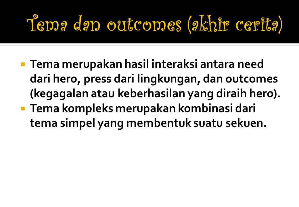 Tema dan outcomes (akhir cerita)