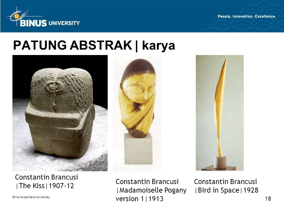 PATUNG ABSTRAK | karya Constantin Brancusi |The Kiss|1907-12