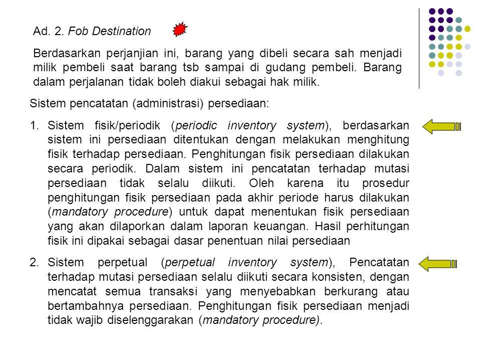 Ad. 2. Fob Destination