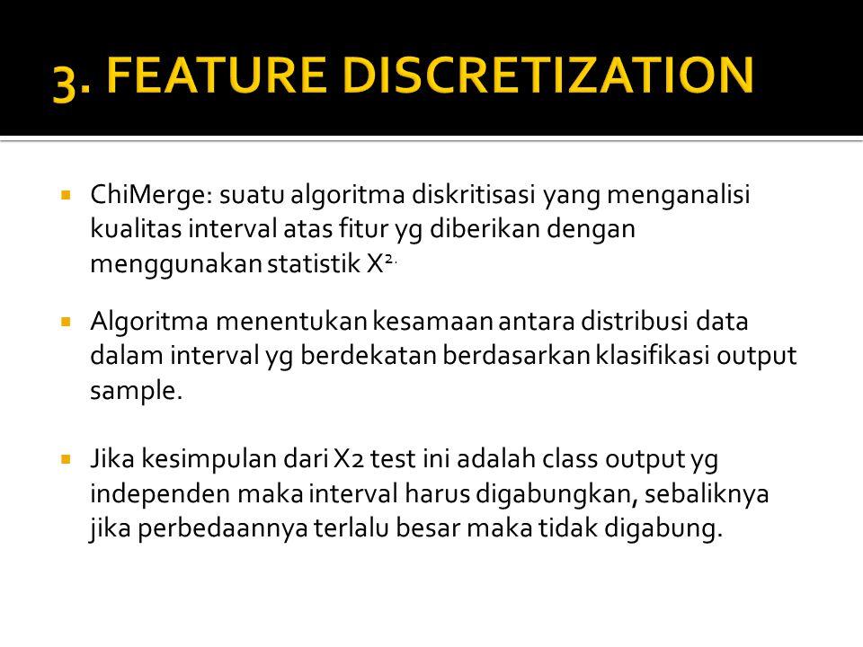 3. FEATURE DISCRETIZATION
