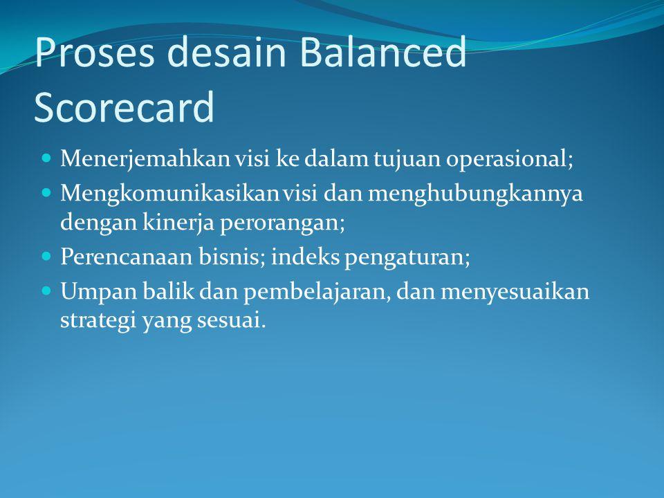 Proses desain Balanced Scorecard