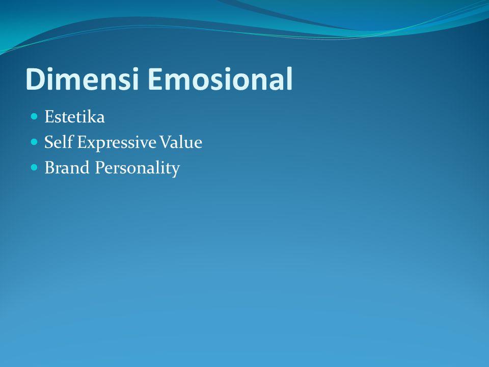 Dimensi Emosional Estetika Self Expressive Value Brand Personality