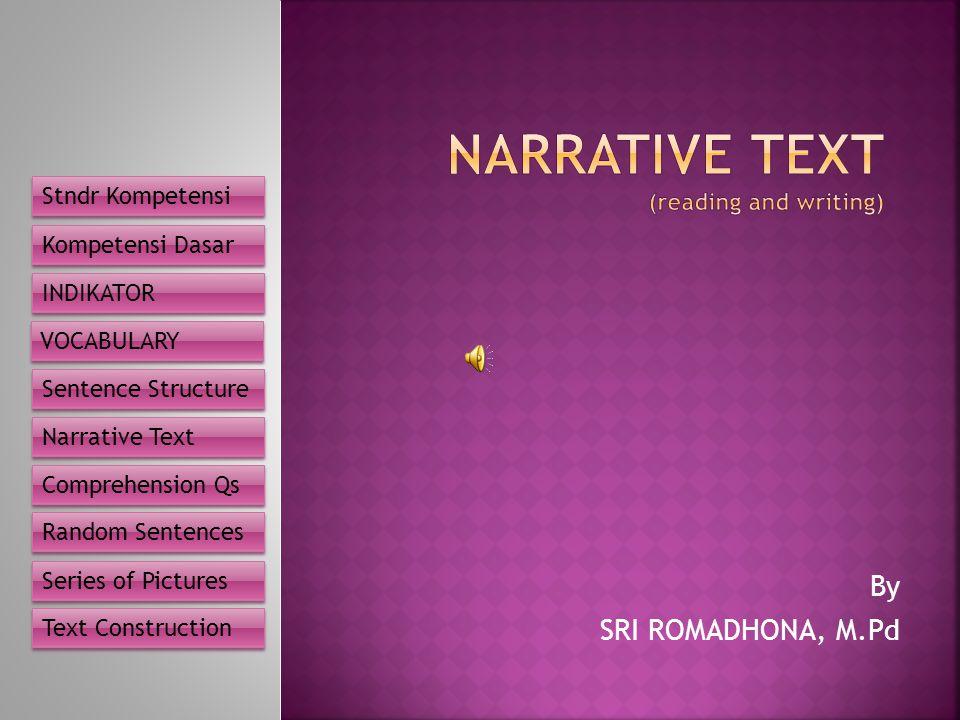 narrative text Narrative text organization purpose: the narrative text organization chart (above) displays a visual representa-tion of narrative text at a detailed level.