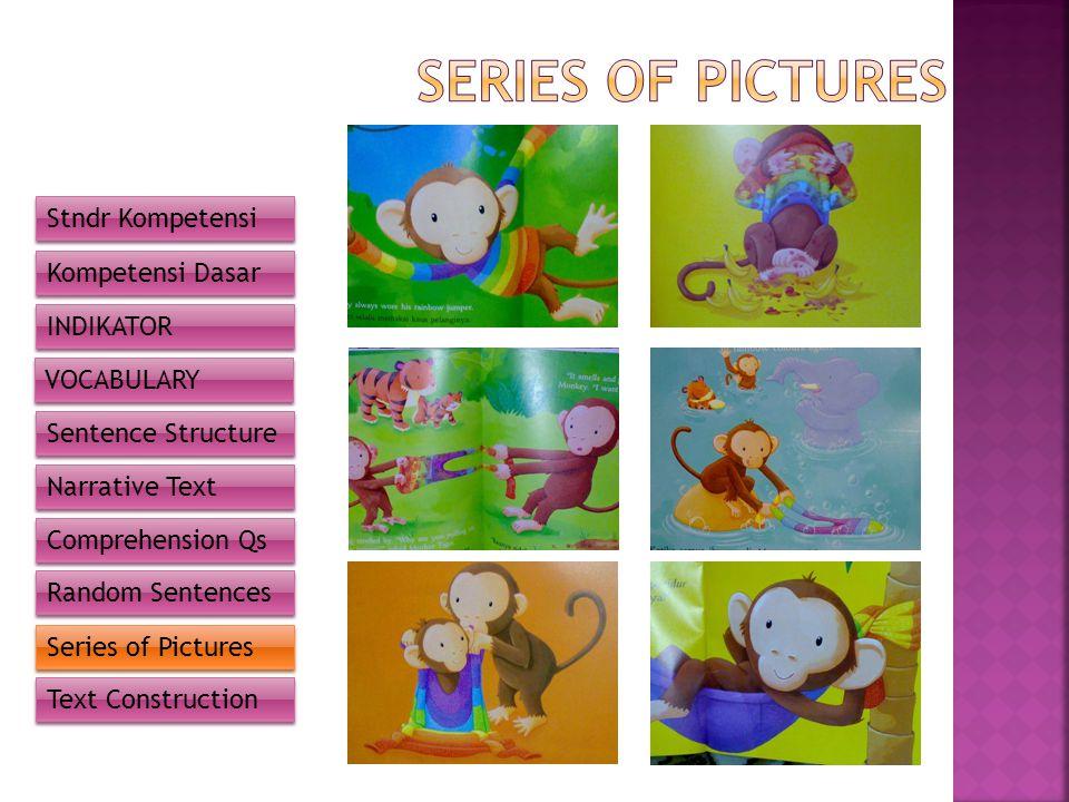 SERIES OF PICTURES Stndr Kompetensi Kompetensi Dasar INDIKATOR