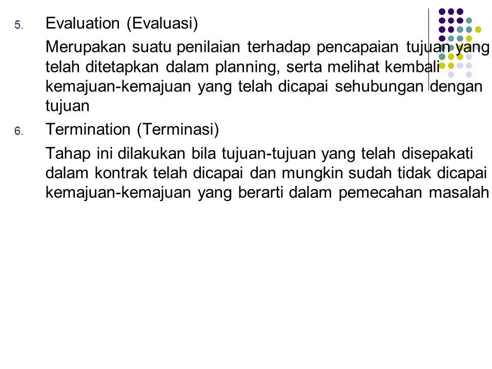 Evaluation (Evaluasi)