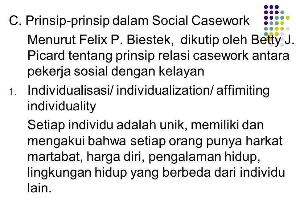 C. Prinsip-prinsip dalam Social Casework