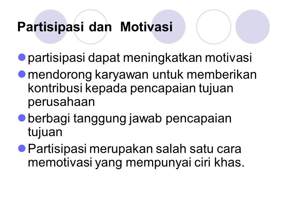 Partisipasi dan Motivasi