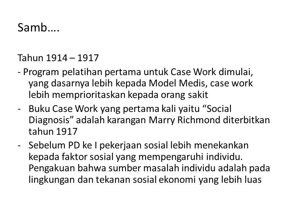 Samb…. Tahun 1914 – 1917.
