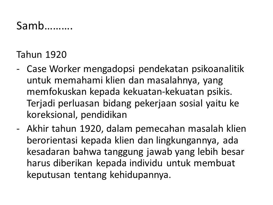 Samb………. Tahun 1920.