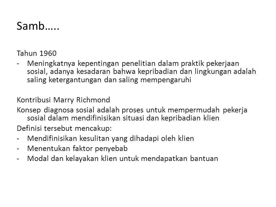 Samb….. Tahun 1960.