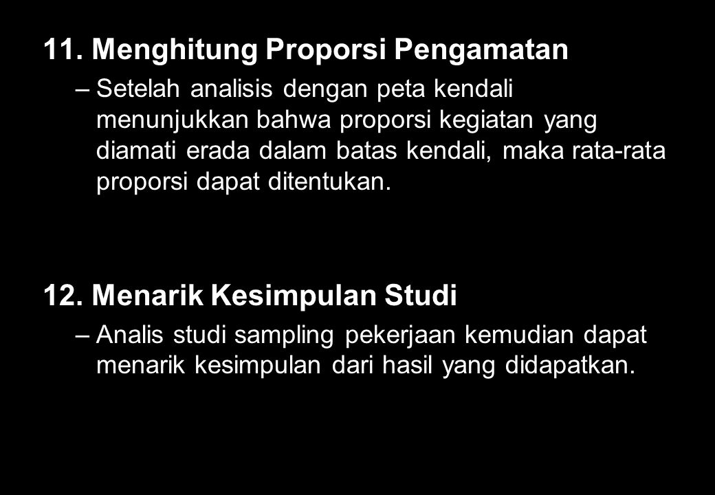 11. Menghitung Proporsi Pengamatan