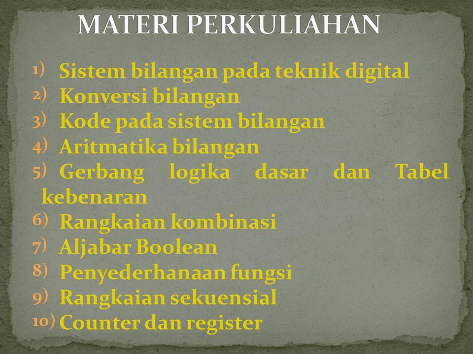 MATERI PERKULIAHAN Sistem bilangan pada teknik digital