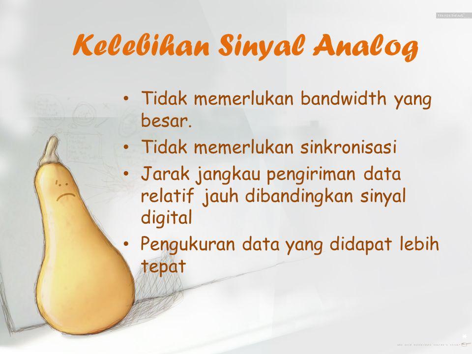 Kelebihan Sinyal Analog