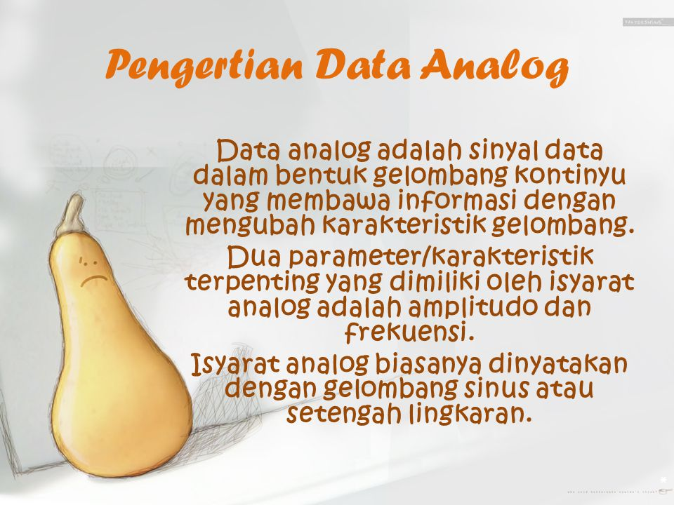 Pengertian Data Analog