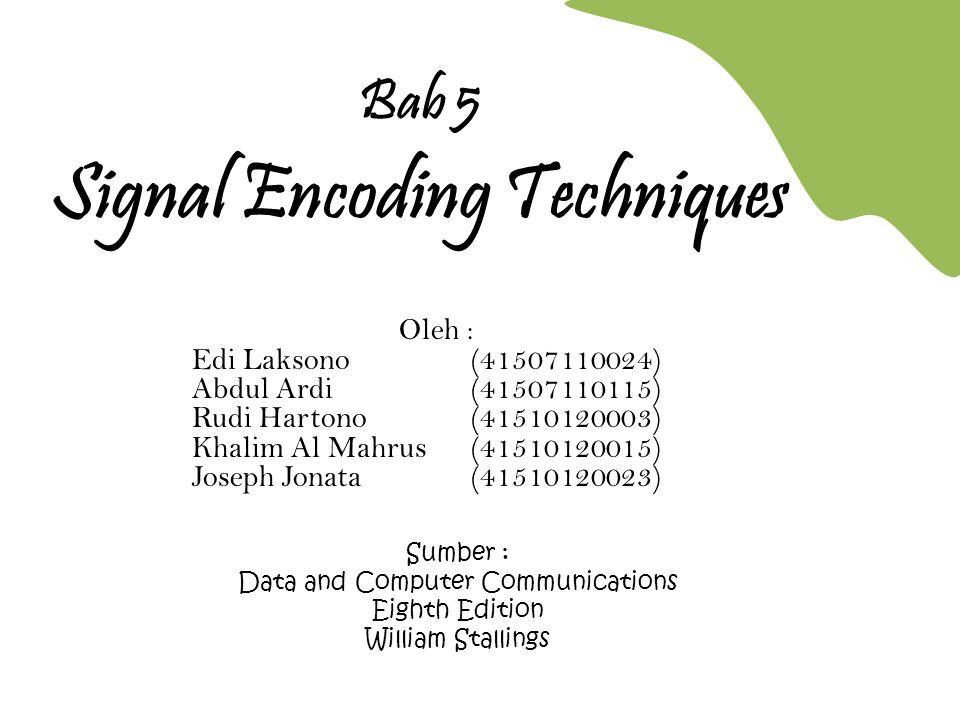 Bab 5 Signal Encoding Techniques