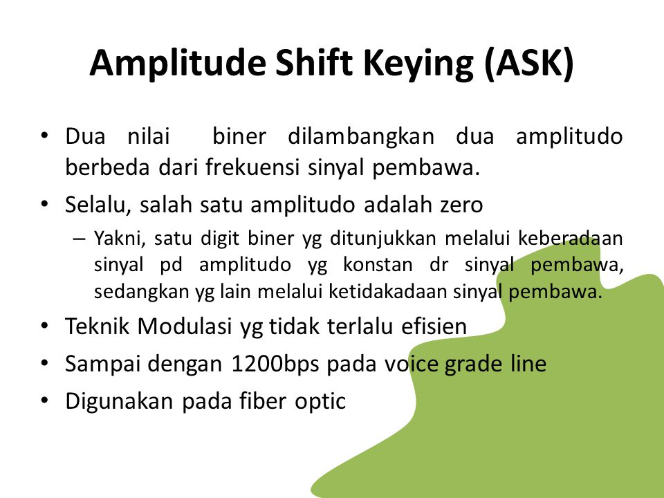 Amplitude Shift Keying (ASK)