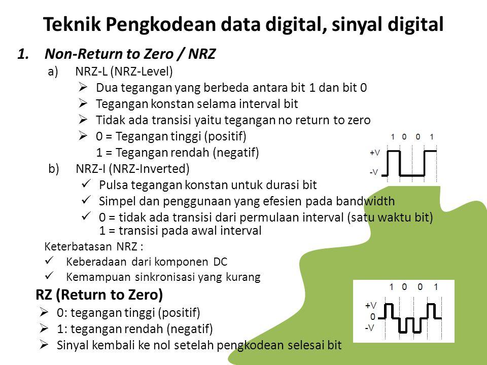 Teknik Pengkodean data digital, sinyal digital