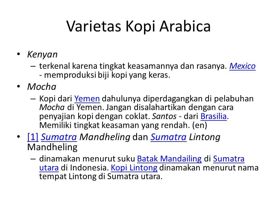 Varietas Kopi Arabica Kenyan Mocha