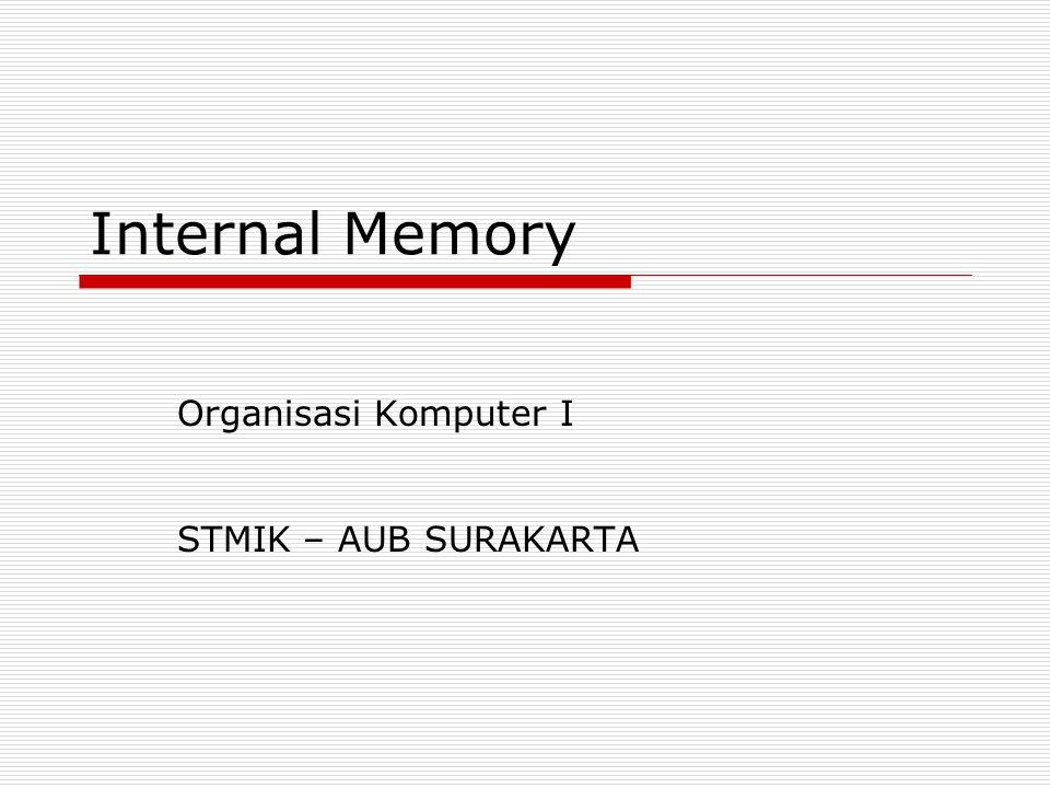 Organisasi Komputer I STMIK – AUB SURAKARTA