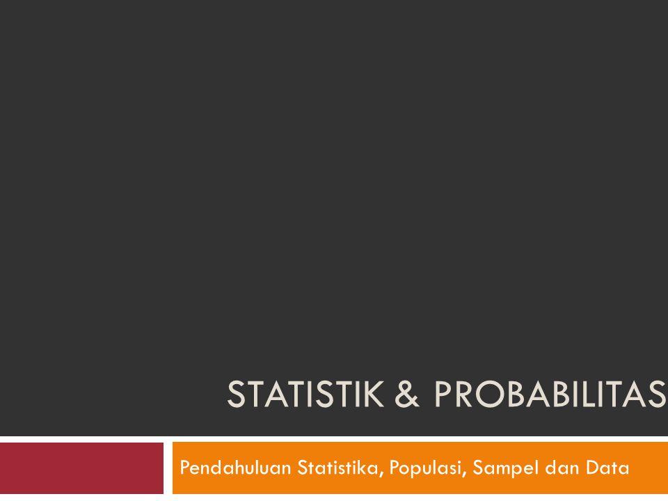 Statistik & Probabilitas