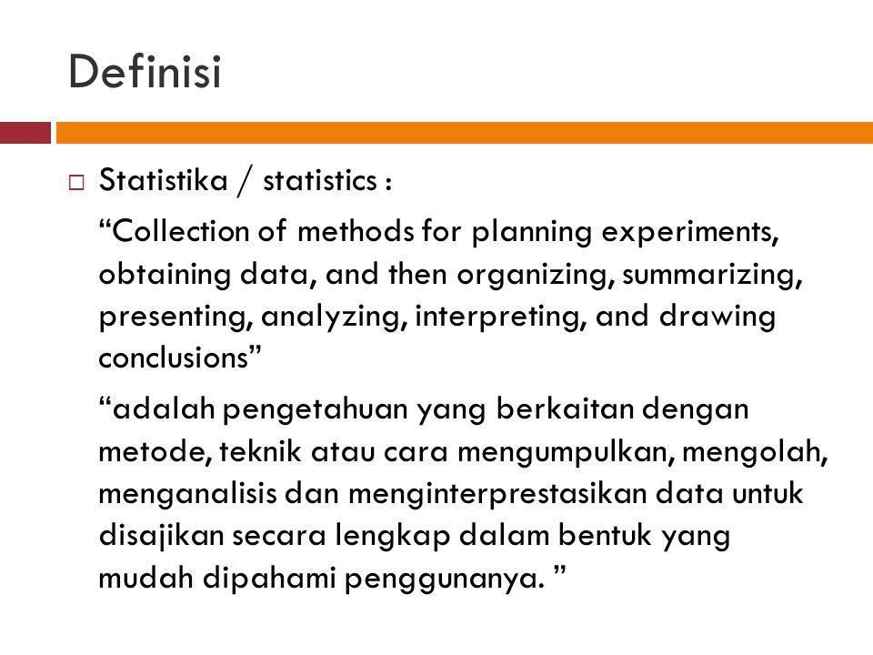 Definisi Statistika / statistics :